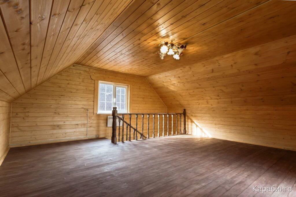 Отделка деревянного дома внутри фото второй этаж дом